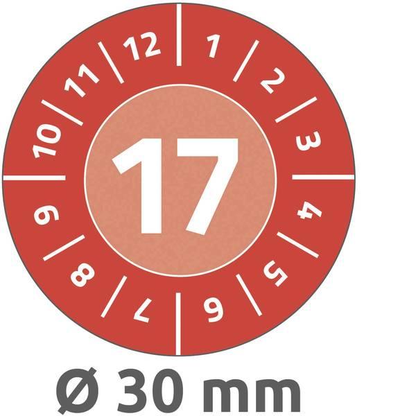 Targhette d`ispezione - Targhetta ispezione Avery-Zweckform 6938 17 2017 Rosso (Ø) 30 mm 80 pz. -