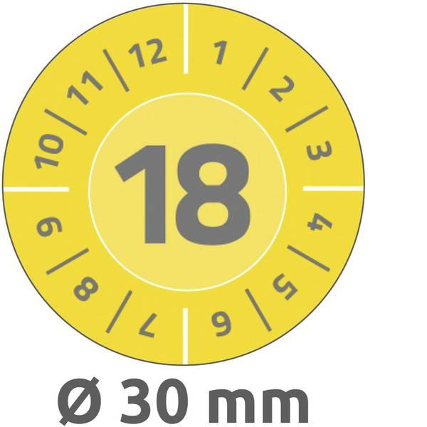 Targhette d`ispezione - Targhetta ispezione Avery-Zweckform 6940 18 2018 Giallo (Ø) 30 mm 80 pz. -