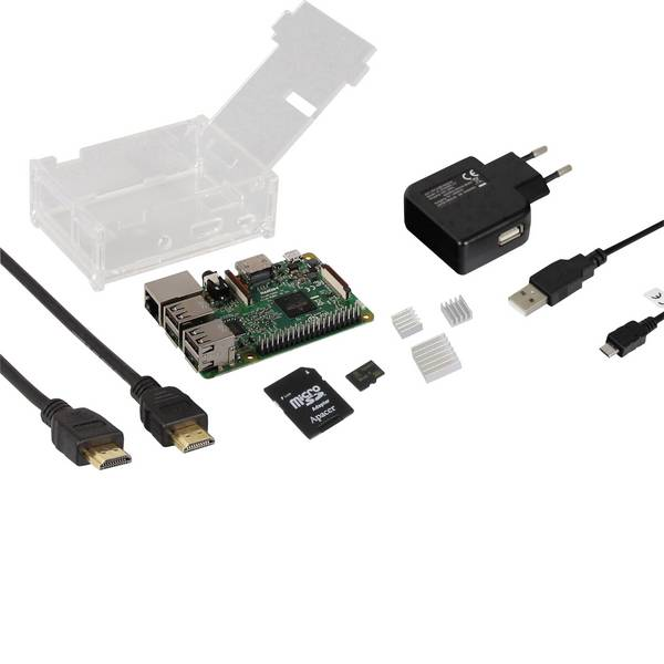 Schede di sviluppo e Single Board Computer - Raspberry Pi® 3 Model B starter kit 1 GB di Linux, noobs incl. Sistema operativo Noobs, incl. Alloggiamento, incl.  -
