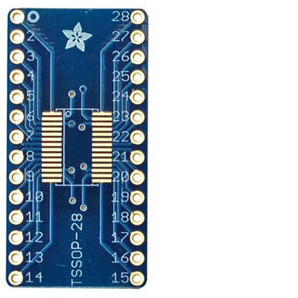Moduli e schede Breakout per schede di sviluppo - Adafruit Scheda di prototipazione senza componenti SMT Breakout PCB for SOIC-28 or TSSOP-28 -