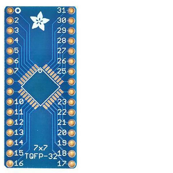Moduli e schede Breakout per schede di sviluppo - Adafruit Scheda di prototipazione senza componenti SMT Breakout PCB for 32-QFN or 32-TQFP -