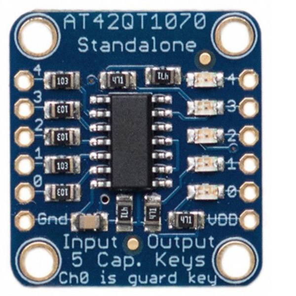 Moduli e schede Breakout per schede di sviluppo - Adafruit Scheda di espansione Capacitive Touch Sensor Breakout - AT42QT1070 QTouch™ -