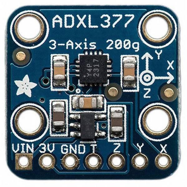 Moduli e schede Breakout per schede di sviluppo - Adafruit Scheda di espansione ADXL377 - High-G Triple-Axis Accelerometer (+-200g Analog Out) -