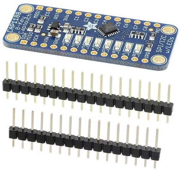 Moduli e schede Breakout per schede di sviluppo - Adafruit Scheda di espansione CAP1188 - 8-Key Capacitive Touch Sensor Breakout - I2C or SPI RightTouch™ -