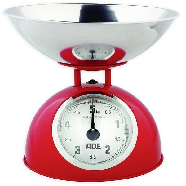 Bilance da cucina - ADE KM 861 Luisa Bilancia da cucina analogica Portata max.=5 kg Rosso -