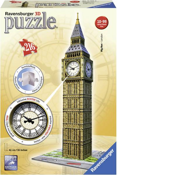 Puzzle - Ravensburger Big Ben con orologio -