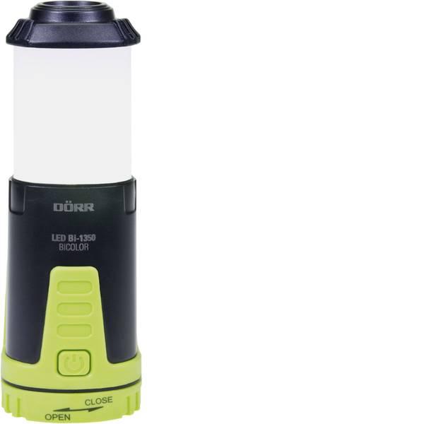 Lampade per campeggio, outdoor e per immersioni - LED Lanterna da campeggio Dörr Foto Bi-1350 115 lm a batteria 77 g Nero-Verde 980546 -