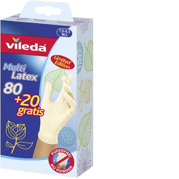 Pulizia della cucina e accessori - Guanti monouso Vileda Multi Latex 80+20 gratis M/L -