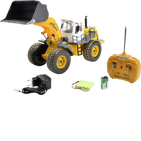 Trattori e mezzi da cantiere RC - Pala caricatrice Modellino per principianti Carson Modellsport 1:14 Veicolo incl. Batteria, caricatore e batterie  -