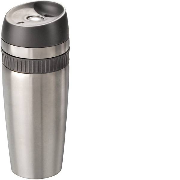 Thermos e tazze termiche - MATO Travel Tazza termica Acciaio inox (spazzolato), Nero 0.4 l 4219 -