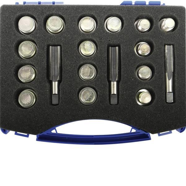 Strumenti speciali per auto - Utensile di riparazione per le filettature di scarico dellolio, 33 pezzi, in valigetta Kunzer 78850 -