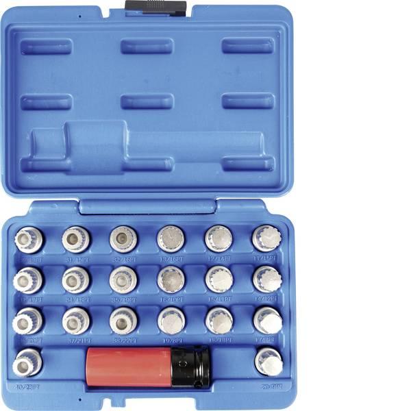 Strumenti speciali per auto - Set di chiavi per lucchetto per cerchione, 21 pezzi, in valigetta Kunzer 7FSB21 -