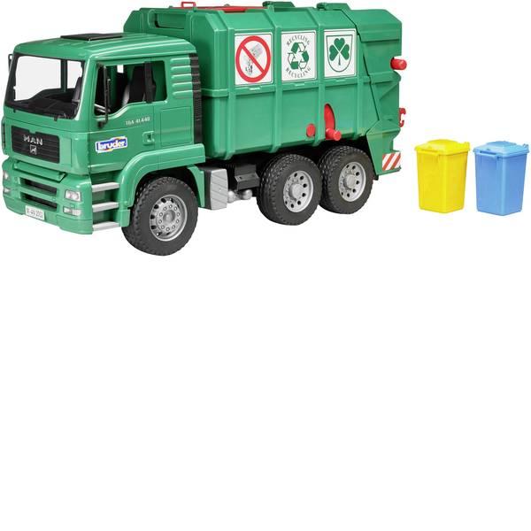 Veicoli industriali e veicoli da cantiere - Camion immondizia con caricatore posteriore verde MAN TGA Bruder -