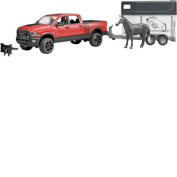 Veicoli senza telecomando - RAM 2500 Power Wagon con rimorchio per cavalli Bruder -