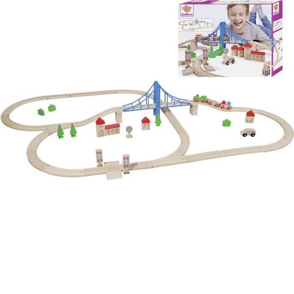 Treni e ferrovie in legno - Ferrovia di legno Eichhorn KIT treno con ponte 100001264 -