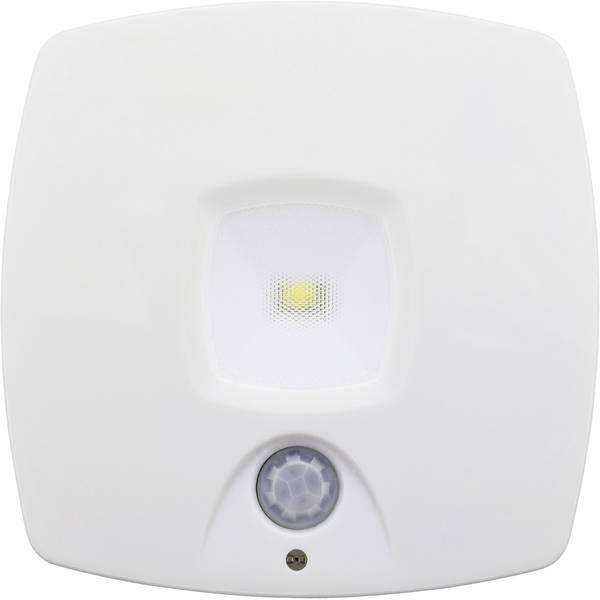 Luci notturne - Müller Licht 27700015 Luce notturna LED con sensore di movimento Quadrato LED Bianco luce del giorno Bianco -
