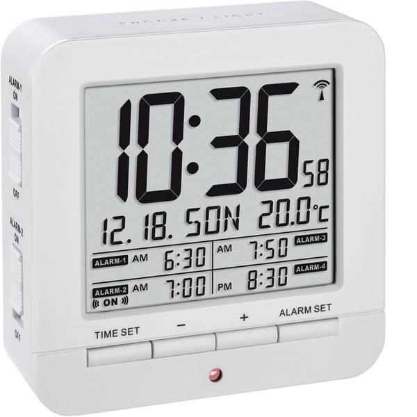 Sveglie - TFA 60.2536.02 Radiocontrollato Sveglia Bianco Tempi di allarme 4 -