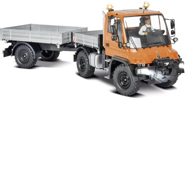 Trattori e mezzi da cantiere RC - Unimog U300 con rimorchio Automodello Carson Modellsport 1:12 Veicolo incl. Batteria, caricatore e batterie telecomando -