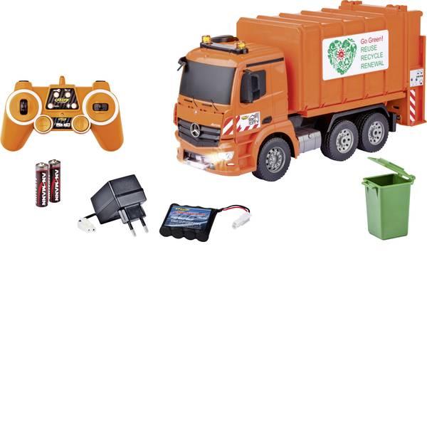 Trattori e mezzi da cantiere RC - Camion della spazzatura Mercedes Automodello per principianti Carson Modellsport 1:20 Veicolo incl. Batteria, caricatore  -