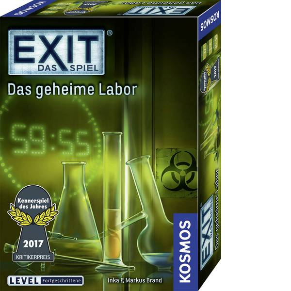 Giochi di società e per famiglie - Kosmos EXIT - il gioco - Laboratorio segreta -