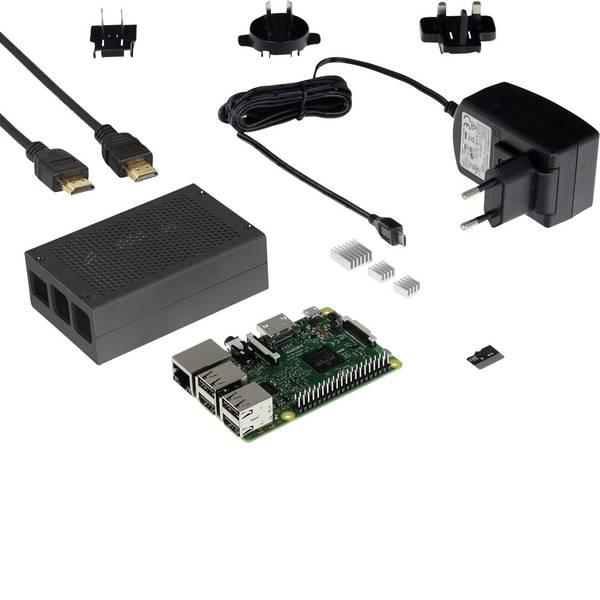 Schede di sviluppo e Single Board Computer - Raspberry Pi® 3 B Retro Pi 1 GB 4 x 1.2 GHz incl. custodia, incl. dissipatore, incl. Noobs OS, incl. cavo di  -