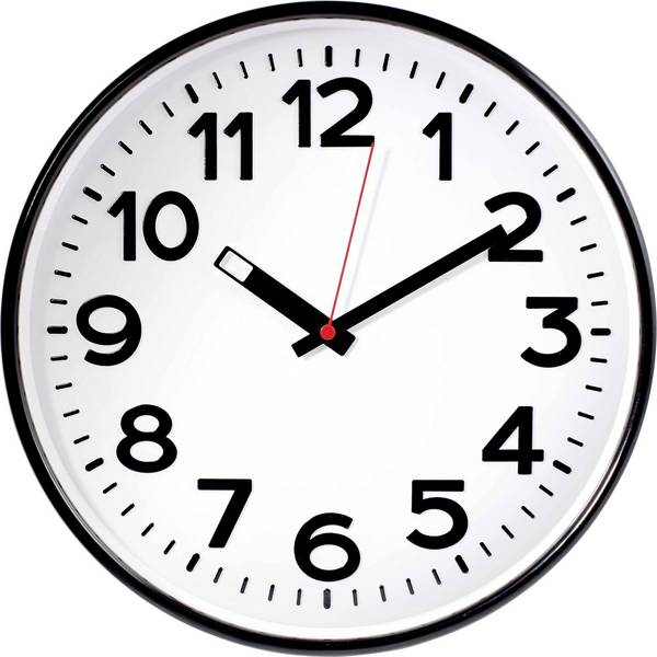 Orologi da parete - EUROTIME 82320 Quarzo Orologio da parete 300 mm x 50 mm Nero -