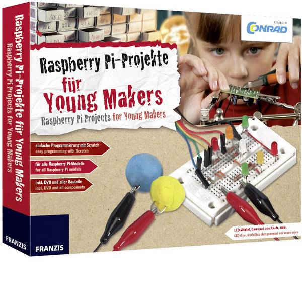 Kit esperimenti e pacchetti di apprendimento - Kit per i Makers Conrad Components Conrad Raspberry Pi für Young Makers 10222 da 14 anni -