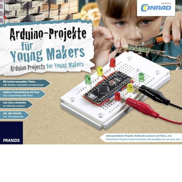 Kit esperimenti e pacchetti di apprendimento - Conrad Components 15000 Conrad Arduino für Young Makers Kit per i Makers da 14 anni -
