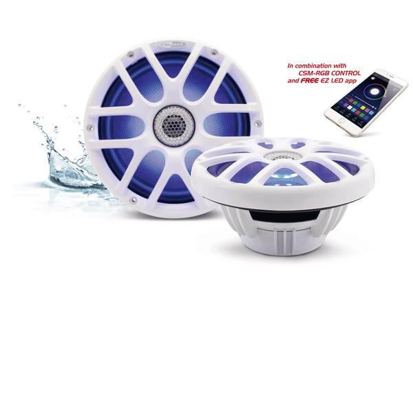Altoparlanti da incasso per auto - Caliber Audio Technology CSM20RGB/W Altoparlante coassiale da incasso a 2 vie 160 W Contenuto: 2 pz. -