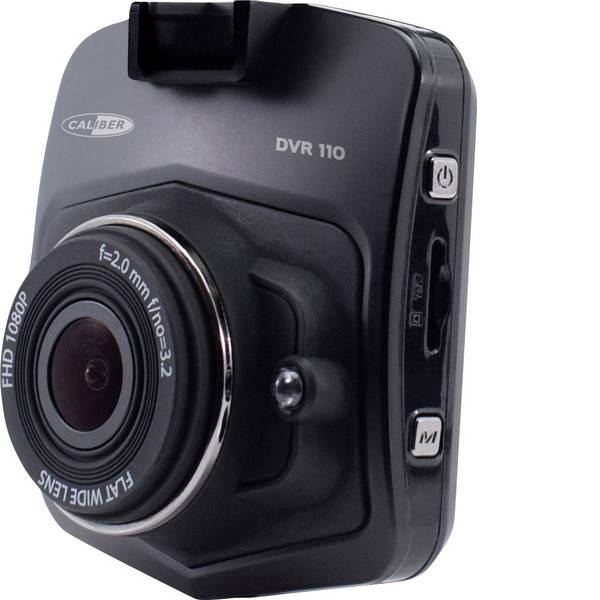 Dashcam - Caliber Audio Technology DVR110 Dashcam Max. angolo di visuale orizzontale=140 ° Microfono, Display, Batteria  -