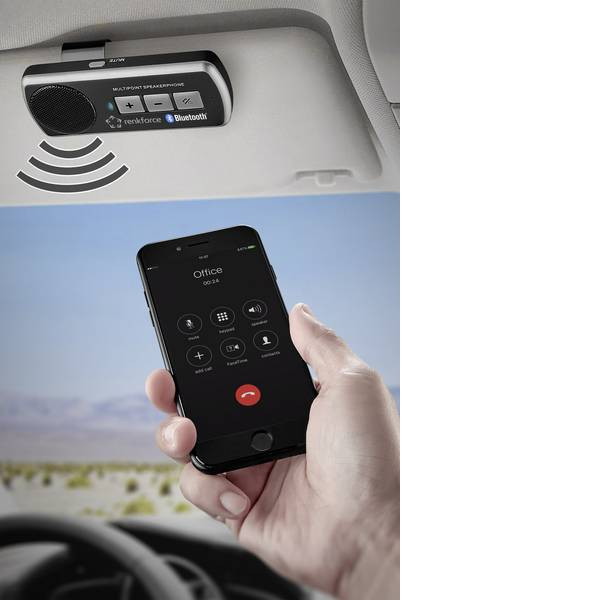 Vivavoce Bluetooth - Vivavoce Bluetooth® Renkforce RF-BTFE-1000 Tempo di conversazione (max.): 7.5 h -