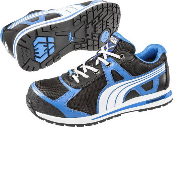 Scarpe antinfortunistiche - Scarpe di sicurezza S1P Misura: 45 Nero, Blu, Bianco PUMA Safety Aerial Low HRO SRC 643020-45 1 Paia -