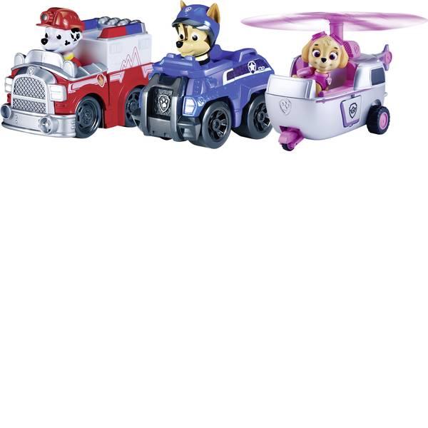 Personaggi da gioco - Spin Master: veicolo base Paw Patrol Rescue Racer 3, Rescue Marshall, spy e Skye Chase -