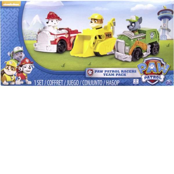 Personaggi da gioco - Spin Master: veicolo base Paw Patrol Rescue racer, Marshall, rocky e Rubble -