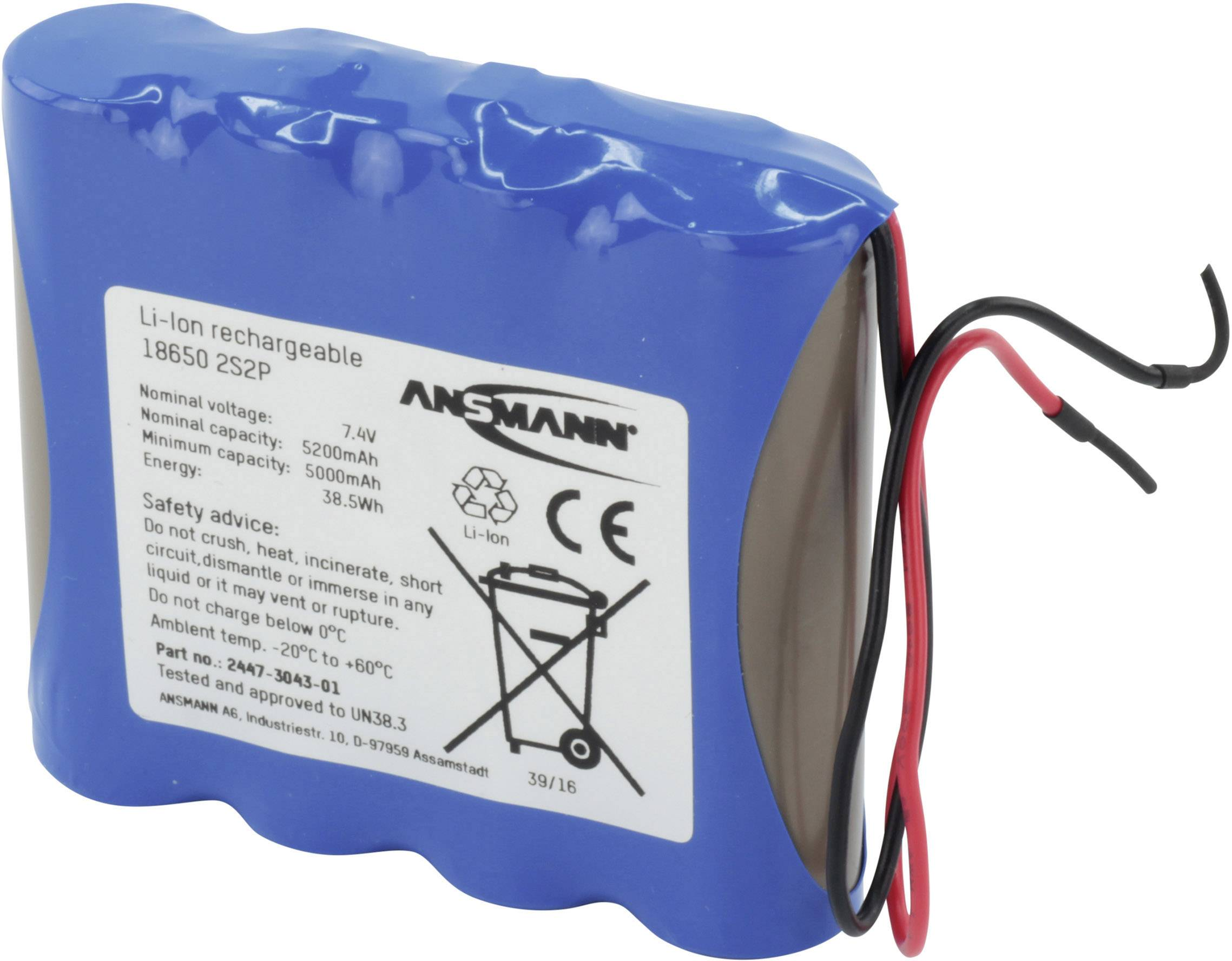 Pacco batteria 4x 18650 con ca
