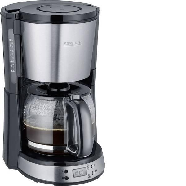 Macchine dal caffè con filtro - Severin KA 4192 Macchina per il caffè Acciaio inox (spazzolato), Nero Capacità tazze=10 funzione timer -