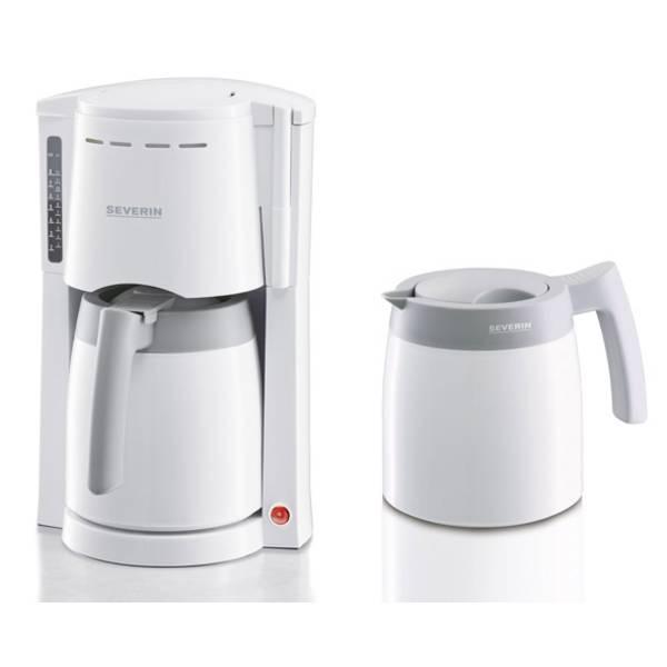 Macchine dal caffè con filtro - Severin KA 9233 Macchina per il caffè Bianco-Grigio Capacità tazze=8 -