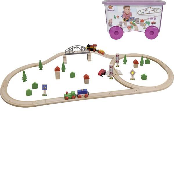 Treni e ferrovie in legno - Ferrovia di legno Eichhorn KIT treno con ponte 100001275 -