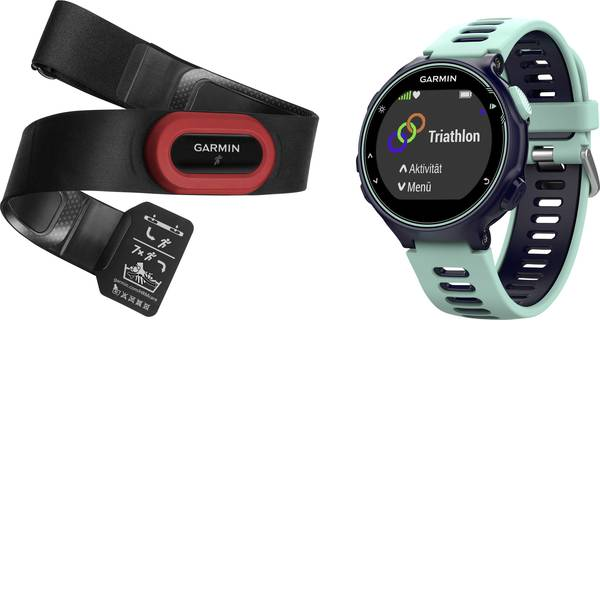 Dispositivi indossabili - Garmin Forerunner 735XT Fitness Tracker Uni Blu acqua, Nero -