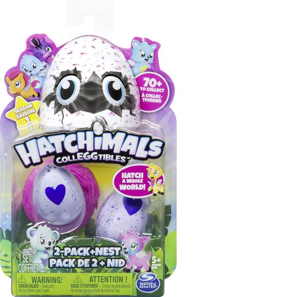 Animali di peluche - Spin Master: Hatchimals Colleggtibles, 2 kit + Nest -