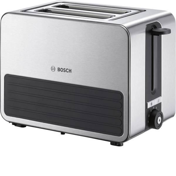 Tostapane - Bosch Haushalt TAT7S25 Tostapane Con griglia scaldabriosche integrata Acciaio, Nero -