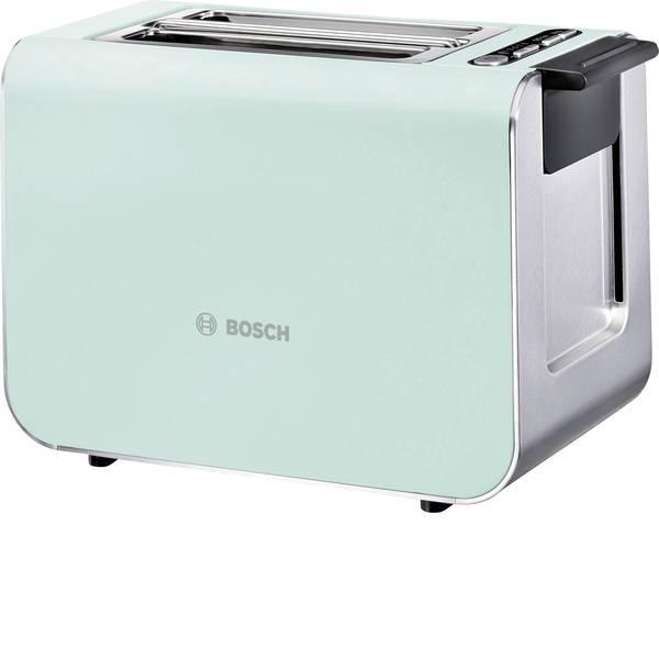 Tostapane - Bosch Haushalt TAT8612 Tostapane Con griglia scaldabriosche integrata Verde chiaro, Acciaio -