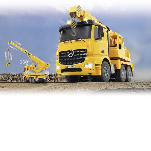 Trattori e mezzi da cantiere RC - Gru per carichi pesanti Mercedes Arocs Modellino per principianti Jamara 1:20 Veicolo -