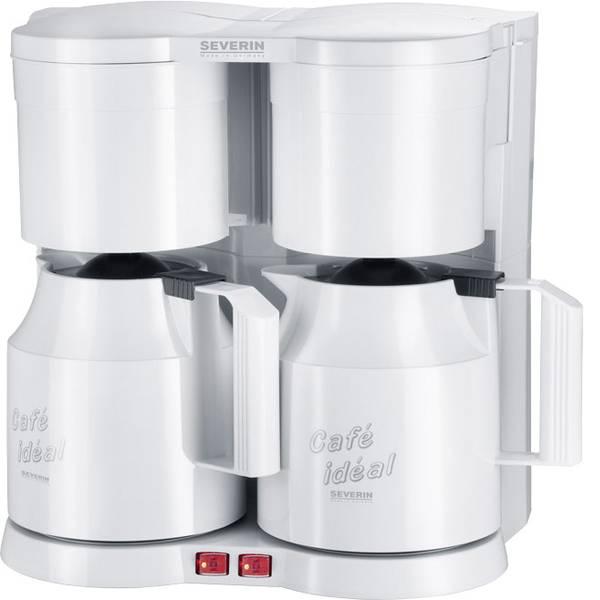 Macchine dal caffè con filtro - Severin KA 5827 Macchina del caffè a doppia tazza Bianco Capacità tazze=16 Isolato -