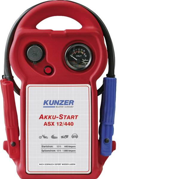 Jump Starter - Sistema di accensione rapido Kunzer AKKU-Start ASX 12/440 Corrente davviamento ausiliaria (12 V)=440 A -