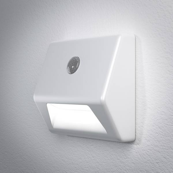 Luci notturne - LEDVANCE NIGHTLUX Stair 4058075030596 Luce notturna LED con sensore di movimento Quadrato LED Bianco neutro Bianco -