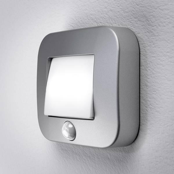 Luci notturne - LEDVANCE NIGHTLUX Hall Silver Blister 4058075027220 Luce notturna LED con sensore di movimento Quadrato LED Bianco  -