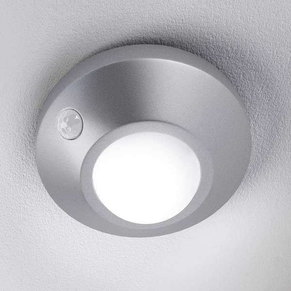 Luci notturne - LEDVANCE NIGHTLUX Ceiling 4058075026612 Luce notturna LED con sensore di movimento Rotondo LED Bianco neutro Argento -