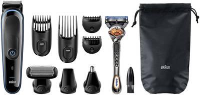 Regolabarba, Tagliacapelli, Rasoio, Rifinitore per peli del corpo, Regolapeli per naso e orecchie Braun MGK3080 9-in-1 l