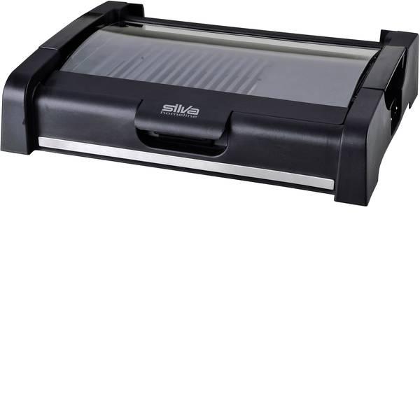 Grill - Silva Homeline BQ 180 G Elettrico Griglia da tavolo con coperchio in vetro Nero -
